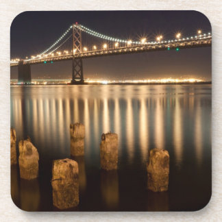 Oakland Bay Bridge night reflections. Coaster