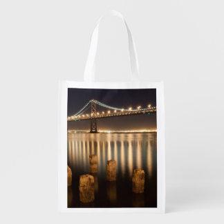 Oakland Bay Bridge night reflections. Market Tote