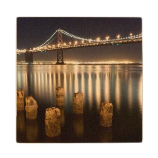 Oakland Bay Bridge night reflections