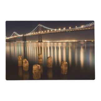Oakland Bay Bridge night reflections. Placemat