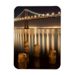 Oakland Bay Bridge night reflections. Rectangle Magnets