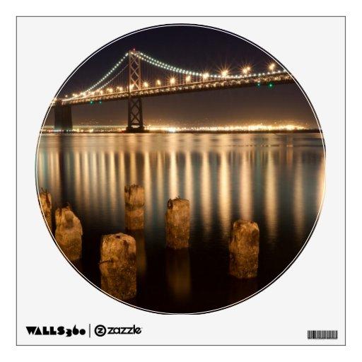 Oakland Bay Bridge night reflections. Wall Stickers