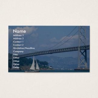 Oakland Bay Bridge with sailboat, San Francisco, C Business Card