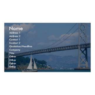 Oakland Bay Bridge with sailboat, San Francisco, C Double-Sided Standard Business Cards (Pack Of 100)