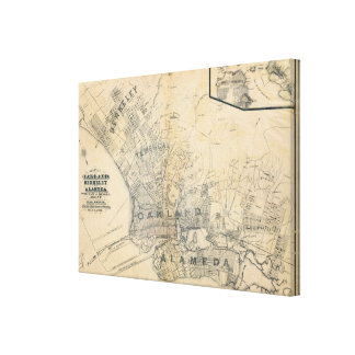 Oakland, Berkeley, Alameda Canvas Print