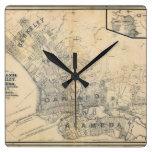 Oakland, Berkeley, Alameda Reloj Cuadrado