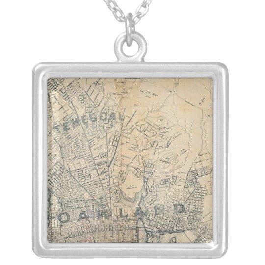 Oakland, Berkeley, Alameda Silver Plated Necklace