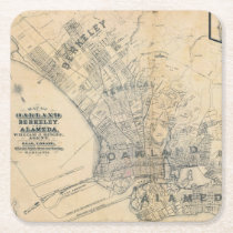 Oakland, Berkeley, Alameda Square Paper Coaster