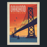 "Oakland, CA Postcard<br><div class=""desc"">Anderson Design Group is an award-winning illustration and design firm in Nashville,  Tennessee. Founder Joel Anderson directs a team of talented artists to create original poster art that looks like classic vintage advertising prints from the 1920s to the 1960s.</div>"