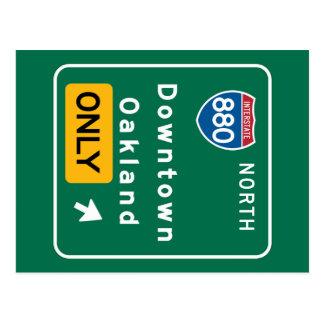 Oakland, CA Road Sign Postcard