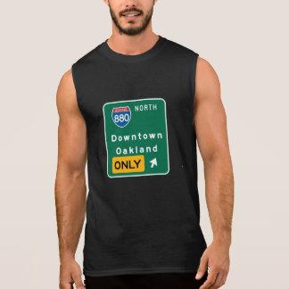 Oakland, CA Road Sign Sleeveless Shirt