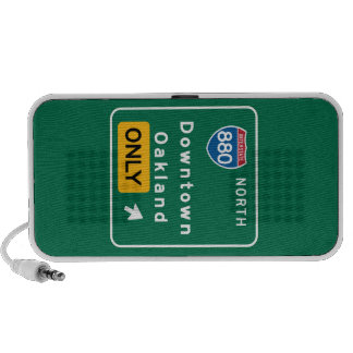Oakland, CA Road Sign Mini Speaker