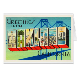 Oakland California CA Old Vintage Travel Souvenir Card
