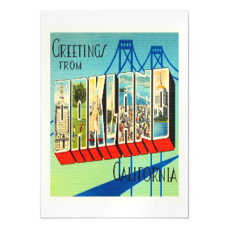 Oakland California CA Old Vintage Travel Souvenir Magnetic Card
