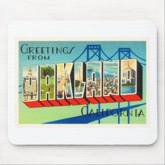Oakland California CA Old Vintage Travel Souvenir Mouse Pad