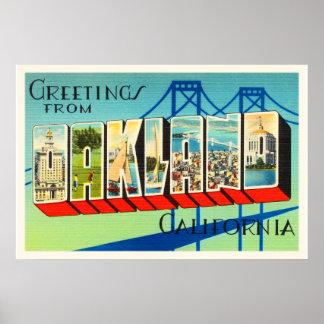 Oakland California CA Old Vintage Travel Souvenir Poster