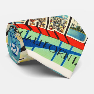 Oakland California CA Old Vintage Travel Souvenir Tie