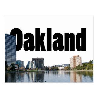 Oakland California con Oakland en el cielo Tarjetas Postales