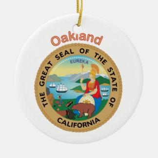 Oakland California Adorno Redondo De Cerámica