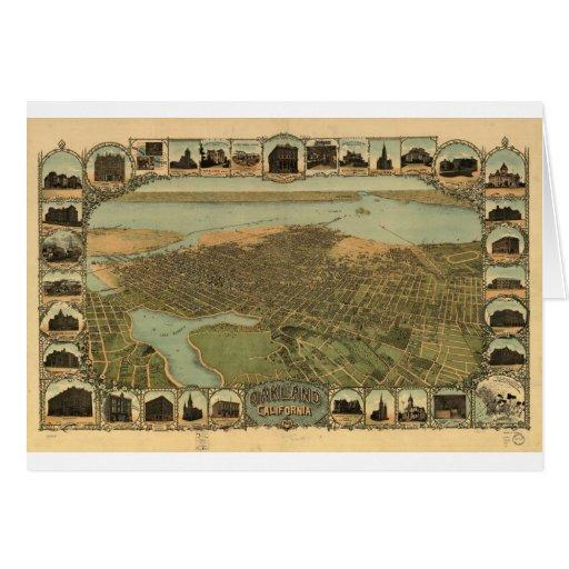 Oakland California en 1899 Tarjeta De Felicitación