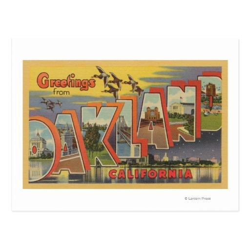 Oakland, California - escenas grandes de la letra Postal