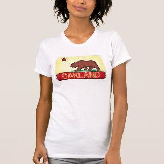 Oakland California ladies state flag tee