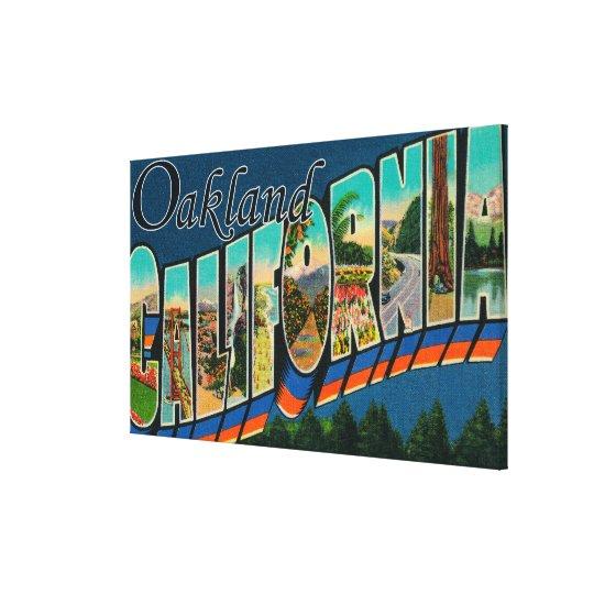 Oakland, California - Large Letter Scenes 2 Canvas Print