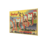 Oakland, California - Large Letter Scenes Canvas Print