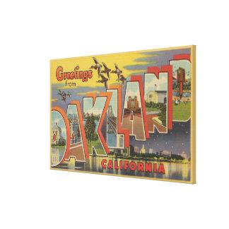 Oakland, California - Large Letter Scenes Canvas Print