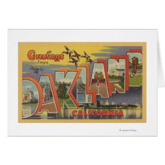 Oakland, California - Large Letter Scenes Card
