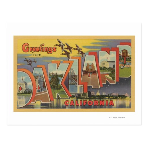 Oakland, California - Large Letter Scenes Post Card