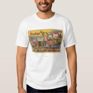 Oakland, California - Large Letter Scenes T Shirt