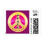 Oakland California Peace Postage Stamps - pink