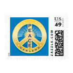 Oakland California Peace Postage Stamps - sky blue