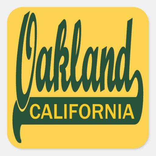 Oakland, California Pegatina Cuadrada