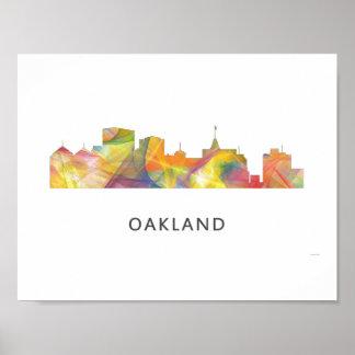 OAKLAND, CALIFORNIA SKYLINE WB1 - POSTER