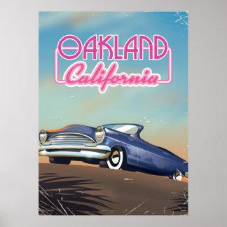 Oakland California travel poster
