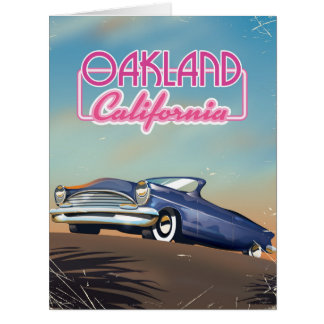 Oakland California travel poster Card