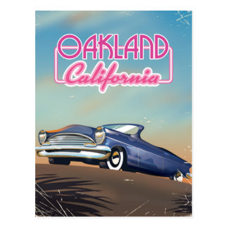 Oakland California travel poster Postcard