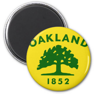 Oakland, California, United States flag 2 Inch Round Magnet