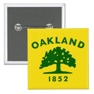 Oakland, California, United States flag 2 Inch Square Button