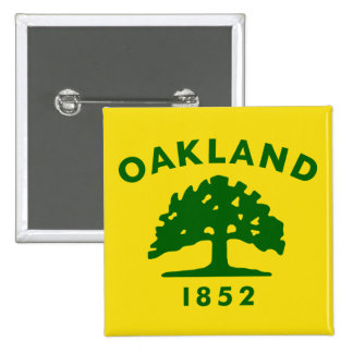 Oakland, California, United States flag Pinback Buttons