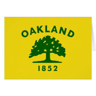 Oakland, California, United States flag Card