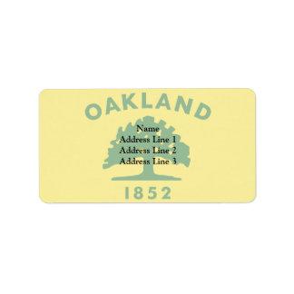 Oakland, California, United States flag Label