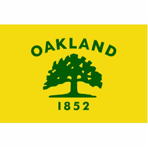 Oakland, California, United States flag Acrylic Cut Out