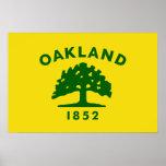 Oakland, California, United States flag Print