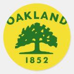 Oakland, California, United States flag Round Sticker