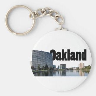Oakland California with Oakland in the Sky Keychain