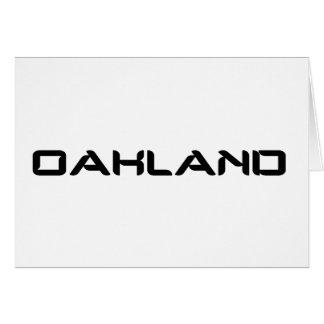 Oakland Card