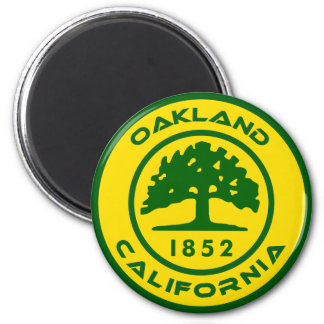 Oakland, Clalifornia 1852 2 Inch Round Magnet